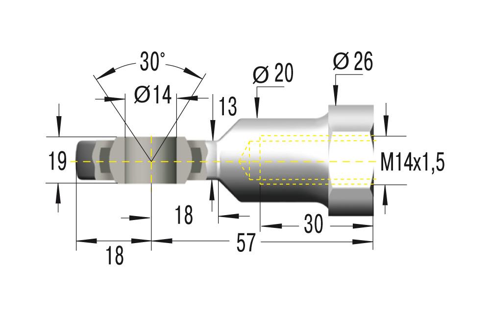 Gelenkkopf M14x1,5 ***maximale Belastung 10000N***