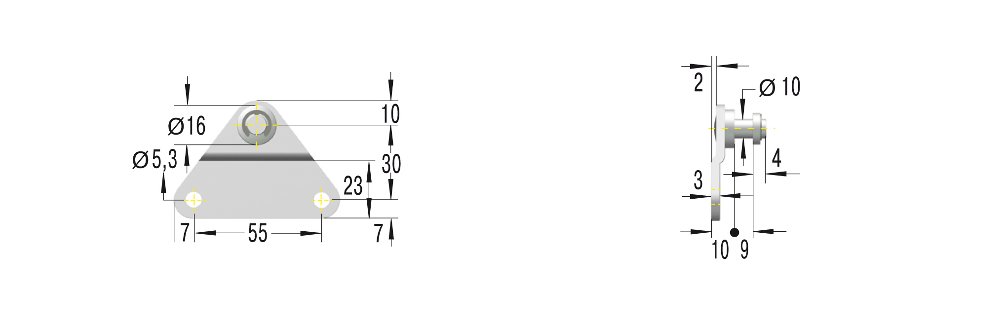 Beschlag für GS-28,GZ-28,HB **maximale Belastung 1200N**